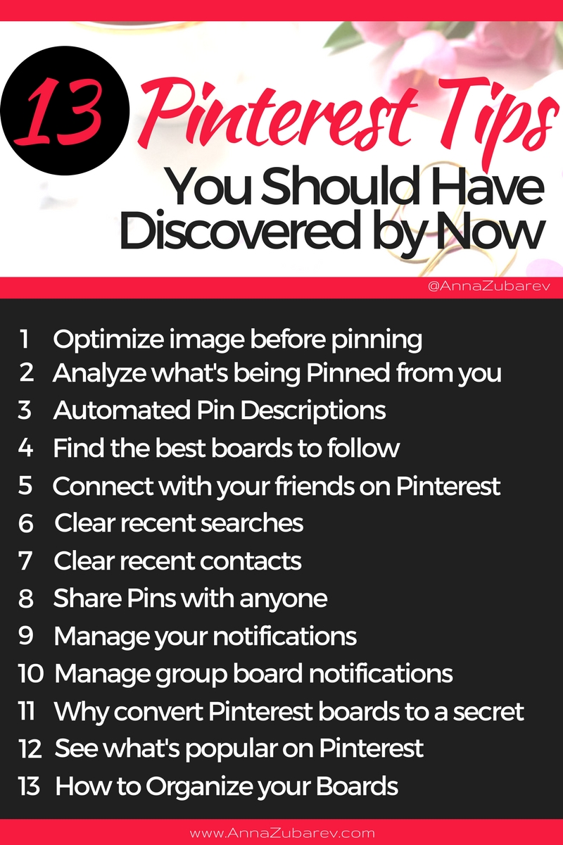 Are you making the most of the Pinterest Tips and Tricks that are available out there?    How can you successfully use this bookmarking tool for your any of your small business marketing?  In this post, you will learn 13 most strategic Pinterest tips you can apply to your pinning strategies and boost your traffic. via @annazubarev