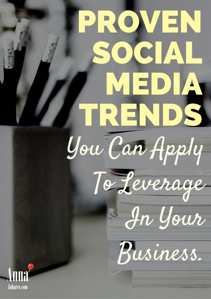 Proven Social Media Trends You Can Apply To Leverage In Your Business. @annazubarev