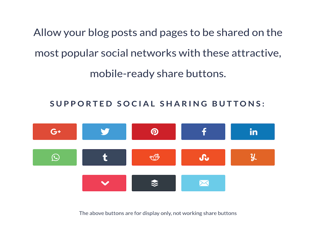 Social Warfare Plugin share buttons.