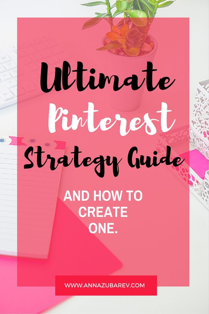 Ultimate Pinterest Strategy Guide and How to Create one. via @annazubarev